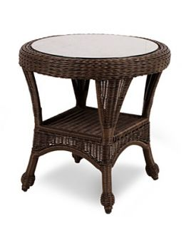 Monterey Wicker Patio Furniture, Outdoor End Table