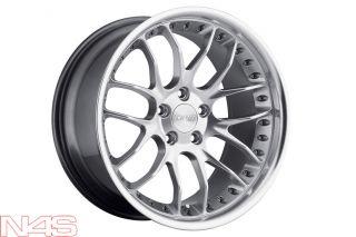 19 BMW E92 E93 M3 MRR GT 7 Silver Staggered Rims Wheels