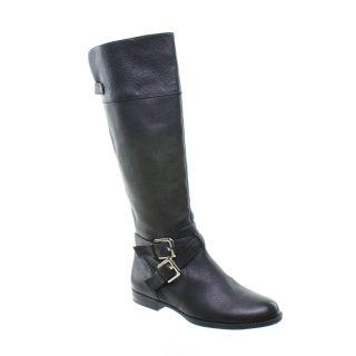 Calvin Klein Hayden Knee High Riding Boot Black Size 6 5 New