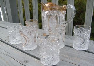 GORGEOUS VINTAGE ANTIQUE EARLY AMERICAN PATTERN EAPG DEPRESSION GLASS
