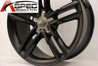 Matt Black Wheel Fit Audi A4 B5 B6 B7 B8 A5 A6 Q5 5x112 Rims