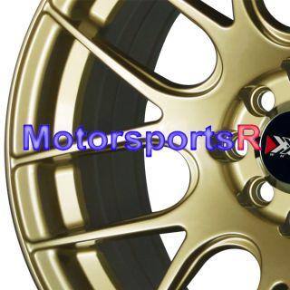 16 16x8 XXR 530 Gold Concave Rims Wheels Stance 4x100 98 Honda Civic
