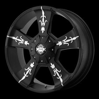 22 inch Black Rims Wheels Chevy Truck Silverado 1500 Tahoe Suburban