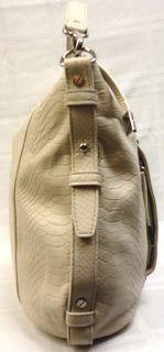 Authentic Michael Kors Bowen Large White Python Shoulder Tote Handbag