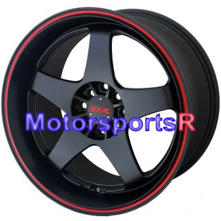 18 XXR 962 Black Red Stripe Staggered Rims Nissan 240sx