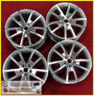 12 Chevy Malibu 18 Machined Silver Wheels Used Rims Set 5361