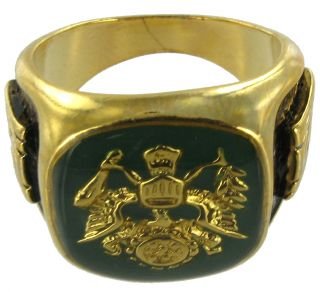 Made in The USA Ring Mens US Army 14k GP Crest Sz 8