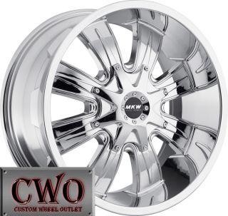 17 Chrome MKW M82 Wheels Rims 5x114 3 5x127 5 Lug Jeep Wrangler Ranger
