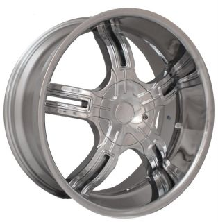 22 Effen 149 Chrome Wheels Rims Tires Pkg 5x115 Ford Chevy Dodge