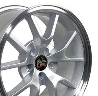 18 Rim Fits Mustang® FR500 Wheels Silver 18x9