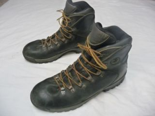 Merrell Leather Hiking Hunting Boots Mens Size 14 Black w Vibram Soles