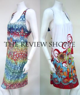 Nally & Millie Reversible Floral Print Dress White Multicolor XL NWT $