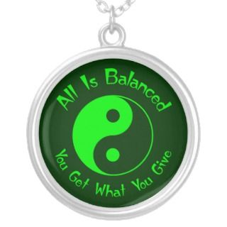 Green Balance Yin Yang Necklace