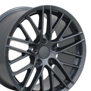 18 Corvette C6 ZR1 Gunmetal Wheels Set of 4 Rims Fit Chevrolet