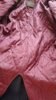 Vintage Mans Navy Blue Wool Pendleton Double Breasted Short Coat C46