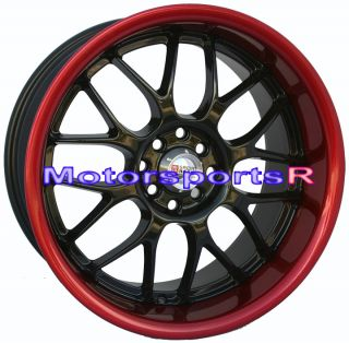 18 XXR 006 Wheels 240sx Staggered Red Lip s13 s14 Rims