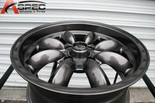 15X7 ROTA RB 4X100 +25 GUN METAL WHEEL FITS CIVIC INTEGRA YARIS CRX