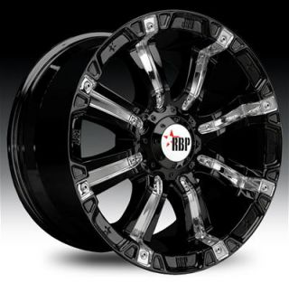 Rolling Big Power 94R Black Machined Wheels with Black Insert 20x9