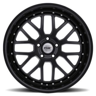 18 TSW Valencia 18x8 5x112 45 Matte Black Wheels Rims