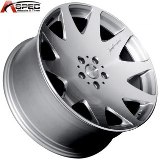MRR HR3 20x9 5 5x114 3 40 Silver Machined Rim Wheels