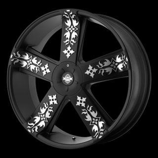22 inch Black Rims Wheels Chrysler 300 Dodge Charger Magnum AWD 5x1115