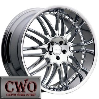 22 Chrome Noire Wheels Rims 6x135 6 Lug Ford F150 Expedition Lincoln