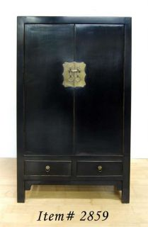 Ming Style Black Cabinet Large Chest Dresser Stand Home Decor