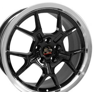 18 Rim Fits Mustang® GT4 Wheels 2005 Black 18x9