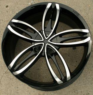 HPD Starlet 22 Black Rims Wheels Blazer s 10 Sonoma 4WD 22 x 8 5 5H