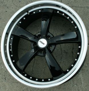 STRIP 22 BLACK RIMS WHEELS FORD FUSION FLEX MUSTANG / 22 X 9.0 5H +40