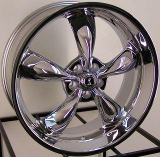 22 Chrome American Racing Shelby Torq Thrust M Wheels Mustang