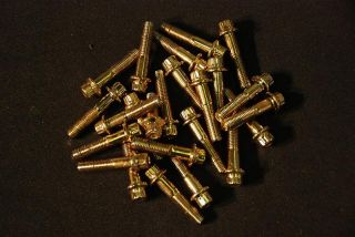 80 Gold Split Rim Bolts M7 x 32 BBs RS Wheels A Other