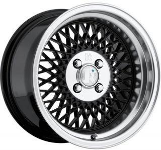 15 Klutch SL1 Mesh Wheels Rims JDM Old School Civic Integra CRX Miata