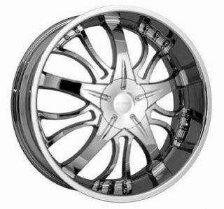 22 inch Strada Brezza Chrome Wheels Rims 5x108 5x4 25