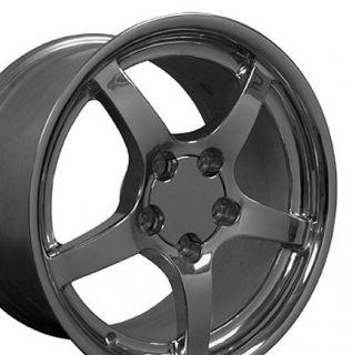 18 17 Polished Wheels Rims Fit Corvette C4 C5 ZR1 Z06