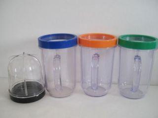 Magic Bullet Clear Smoothie Party Cups Mini Blender Mugs Lip Ring Mug