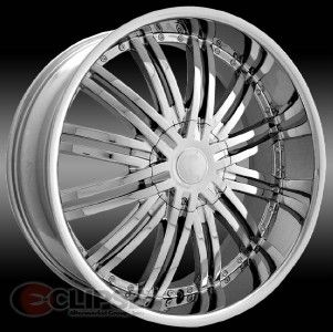 28 inch 28x10 ELR19 Chrome Wheels Rims Dodge RAM 1500