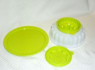 Free SHIP Tupperware Jel Ring Mold 2 Cup Jello Desserts Flower Design