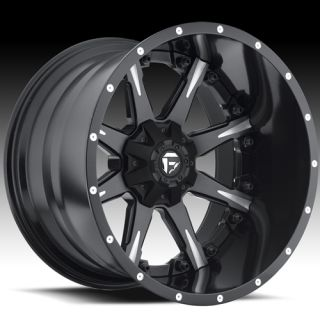 22x14 Black Fuel Nuts Wheels 8x6.5  70 Lifted HUMMER H2 CHEVROLET C