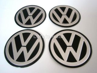 Caps 4pcs 60mm Stickers Decal Badges Rims Polo Golf Passat
