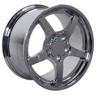 18 19 9 5 10 Chrome Corvette C5 Style Deep Dish Wheels Rims Fit