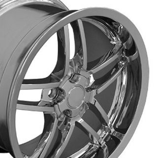 One Wheel 19 Chrome Fits Corvette ZO6 Deep Dish Rims