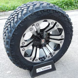 20 Custom Machined XD Monster Wheels 33 Nitto Trail Grappler