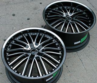 Gianelle Spaarta 20 Black Rims Wheels G35 Coupe