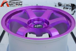 17X9 ROTA GRID 5X114.3 +25 CANDY TONE PURPLE WHEEL FITS CIVIC 350Z S14