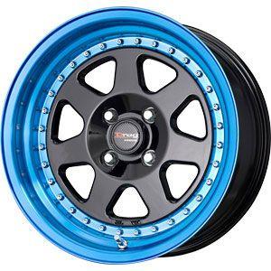 New 15X7 4 100 Dr 27 BLACK WITH BLUE TINT Wheel/Rim