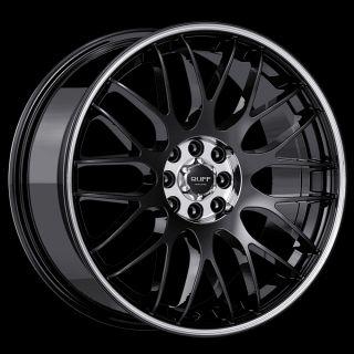 RUFF RACING R355 BLACK MACH 5X112/5X4.5 W/ 40 ET (R355HK5EF40O7M) RIMS