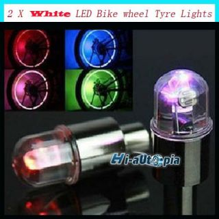 Car Bike Bicycle Cycling Tire Tyre Valve Wheels White LED Light