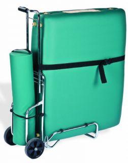 New Reiki Portable Massage Table Cart Wheels Travel Massaging Table