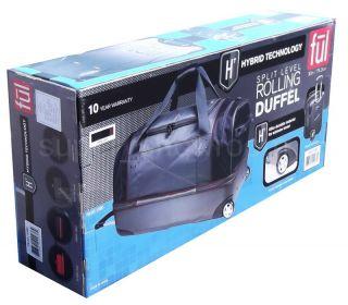 30 Rolling Duffel Bag Split Level Suitcase in Line Wheels Blue